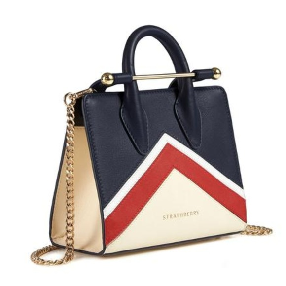 7ec01d94d130 The Strathberry Nano Tote - Navy Chevron. M 5ac50e7b31a376ee57f2c525. Other  Bags ...